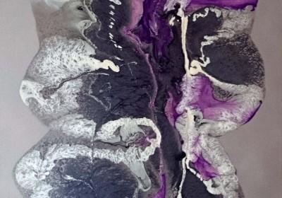 Envolée - Peinture sur résine